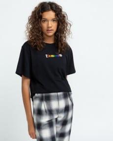 Черный женская футболка landscape