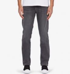 Серые мужские прямые джинсы worker straight