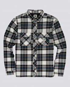 Коричневый мужская рубашка с длинным рукавом wentworth flannel