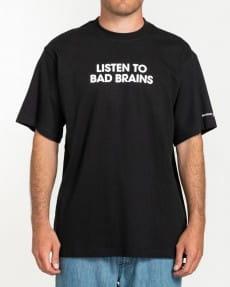 Черный мужская футболка bad brains listen to bad brains