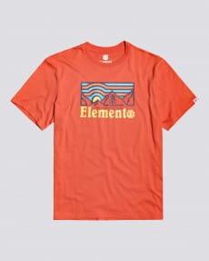 Бордовый детская футболка wander