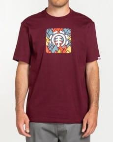Бордовый мужская футболка palette