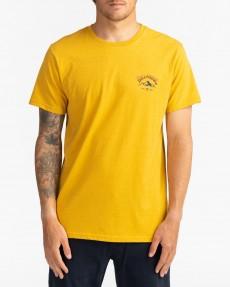 Желтый мужская футболка arch peak