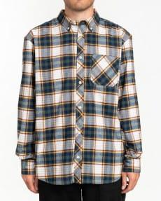 Коричневый мужская рубашка с длинным рукавом lumber
