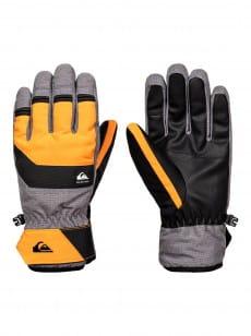 Желтые мужские сноубордические перчатки gates