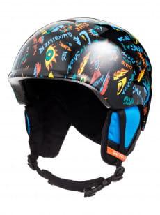 Зеленый детский сноубордический шлем slush