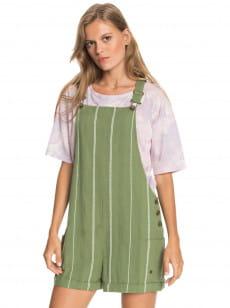 Зеленый женские шорты-комбинезон low rising