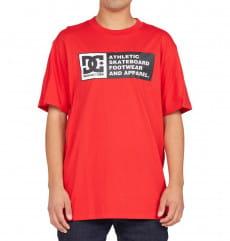 Красный мужская футболка density zone