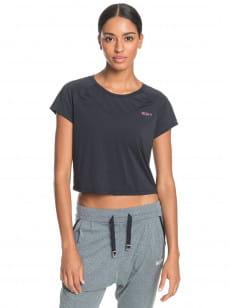 Черный женская спортивная футболка sunset temptation