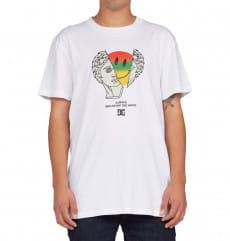 Белый мужская футболка breaking the mold