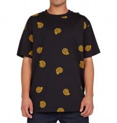 Черный мужская футболка unruly