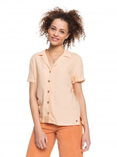 Персиковый женская рубашка с коротким рукавом remind to forget