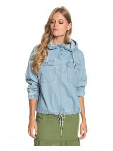 Голубой женский джинсовый анорак wander free