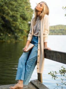 Женские прямые джинсы Vertical Rhythm