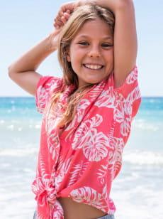 Розовый детская рубашка с коротким рукавом ring ring 4-16
