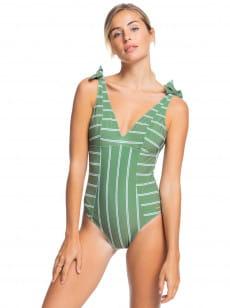 Зеленый женский купальник roxy body