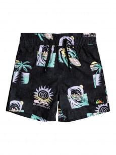 """Черный детские плавательные шорты island pulse 12"""" 2-7"""
