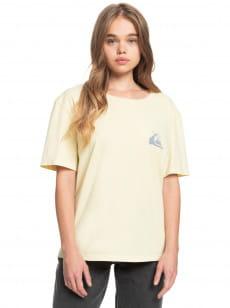 Желтый женская футболка standard