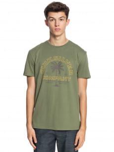 Зеленый мужская футболка shining hour