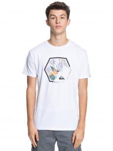 Белый мужская футболка fading out