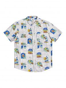 Белый мужская рубашка с коротким рукавом island pulse