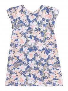 Голубой детское пляжное платье girl happy now 2-7