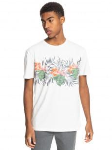 Белый мужская футболка с карманом paradise express