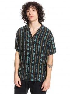 Черный мужская рубашка с коротким рукавом originals dimond stripe