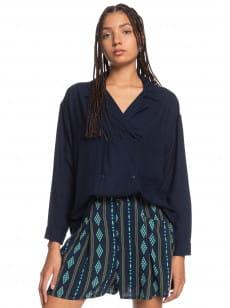 Синий женские шорты tribal session