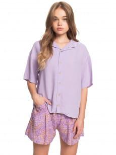 Фиолетовый женская рубашка с коротким рукавом surf camp