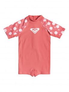 Розовый детский слитный рашгард springsuit 2-7