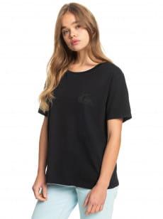 Черный женская футболка standard