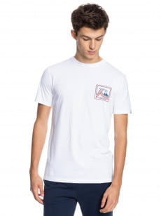 Белый мужская футболка highway vagabond