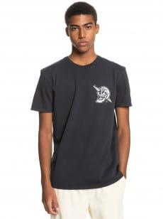 Черный мужская футболка summer skull