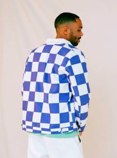 Белый мужская куртка originals box checker