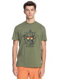 Зеленый мужская футболка made of bones