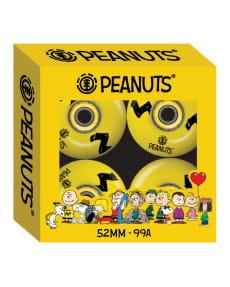 Желтые набор из 4 колес для скейтборда peanuts charlie brown stripe 52