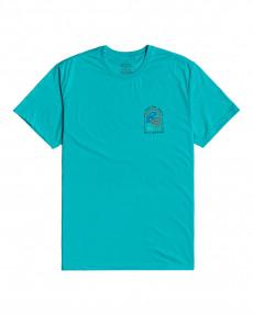 Голубой мужская футболка adventure division transition