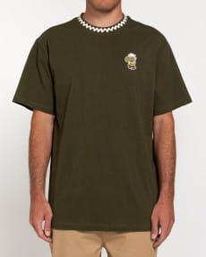 Зеленый футболка peanuts patches