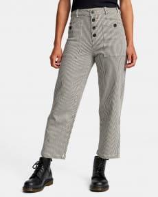 Коричневый женские брюки с высокой талией badder