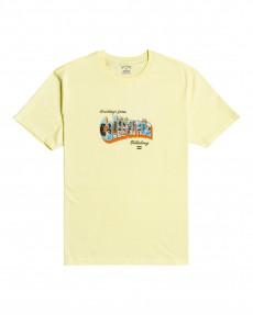 Желтый мужская футболка greetings