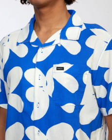 Голубой мужская рубашка с короткими рукавами bailey elder