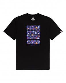 Черный мужская футболка prism block