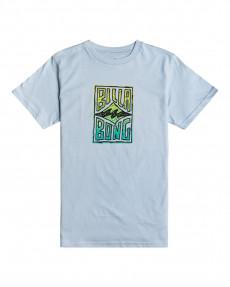 Голубой детская футболка doodle