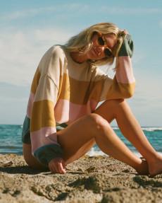 Коричневый женский джемпер salty blonde day drifter