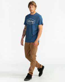 Синий мужская футболка trademark
