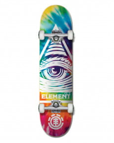 "Желтый скейтборд eye trippin rainbow 8"""