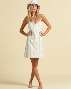 Белый женское платье-комбинезон sunny stripes