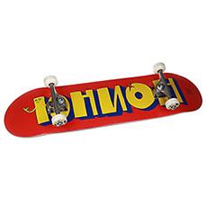 Скейтборд в сборе Юнион  Team Red/Yellow 8,5x32,5,Medium Колёса 54mm/98a