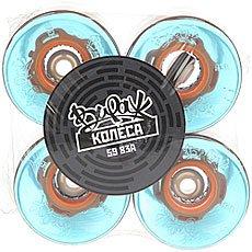 Зеленые колеса для лонгборда вираж 83a 59 mm blue led orange